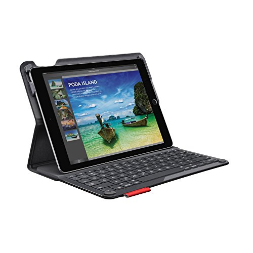 Logitech TYPE + Protective Case and Keyboard for Apple iPad Air 2 Black (Renewed)