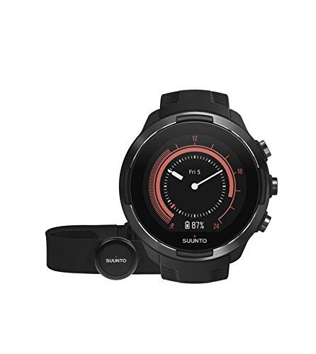 Suunto 9 Baro Reloj Multideporte GPS con cinturón de frecuencia cardíaca, Unisex Adulto, Negro (Black/Black), 24.5 cm