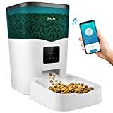 dokoo Automatic Cat Feeder - 2.4G WiFi App Control Smart Pet Feeder, 3L Auto Small Dog Dry Food Dispenser with Programmable Timer, 12 Portion Control for 1-10 Meals Daily, Voice Recorder & Dual Power