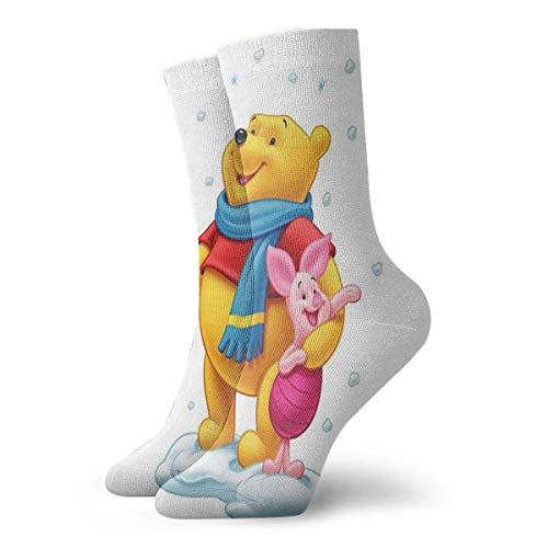 Christmas Special Youth Sports Socks,Winnie The Pooh 1 Crew Socks Outdoor Socks For Gilrs And Boys