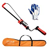 DrainX 6 Foot Toilet Auger   Use Manually or with Drill, Closet Auger Drain Plumbing Snake, Telescopic for Greater Reach, Plastic Guard for Porcelain Protection