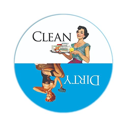 "Aloha Girls Gifts Big 3.5"" Dirty Clean Dishwasher Magnet Ends..."