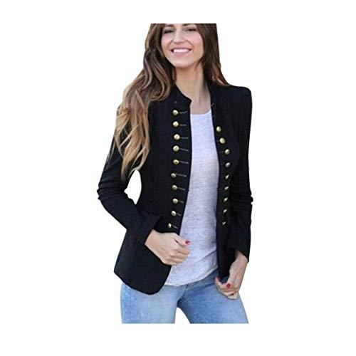 BHYDRY Las Mujeres de Invierno cálido Vintage Tailcoat Chaqueta Sobretodo Outwear...