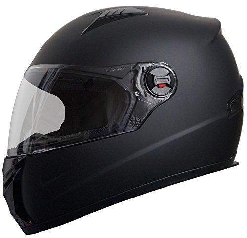 Integralhelm Helm Motorradhelm RALLOX 708-61 Größe M schwarz matt