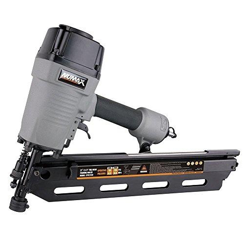 "NuMax SFR2190 Pneumatic 21 Degree 3-1/2"" Full Round Head Framing Nailer Ergonomic and Lightweight Nail Gun with Tool-Free Depth Adjust and No Mar Tip"
