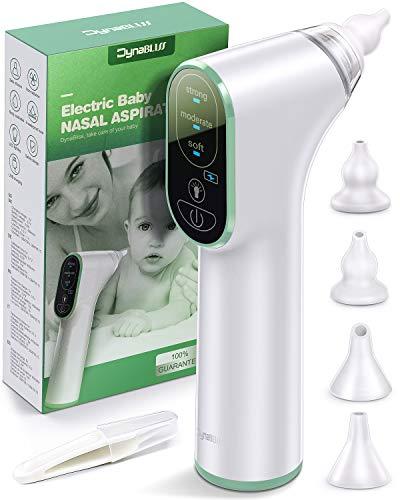 Aspiratore Nasale Neonato, DynaBliss Aspiratore Nasale Elettrico, USB di Ricarica, 3 Livelli di...