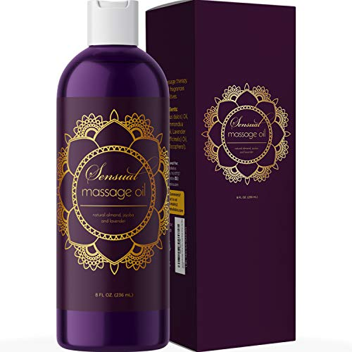 Sensual Massage Oil for Couples - No Stain Lavender Massage...