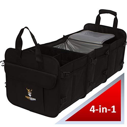Tuff Viking Kofferraumtasche Kofferraum-Organizer mit Kofferraum auslaufsicher Isolierbeutel Kofferraum-Organizer Kofferraum-Box Praktische und wasserdichte Verpackung (4-in-1-Kühltasche, Large)
