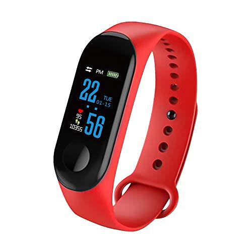 Fitness tracker, Whuooad Activity Tracker Watch con cardiofrequenzimetro impermeabile IP67 con contapassi, contacalorie, contapassi per donne e uomini (rosso)