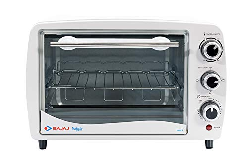 Bajaj Majesty 1603 T Oven Toaster Griller (OTG) with Stainless Steel Body, White, 16L