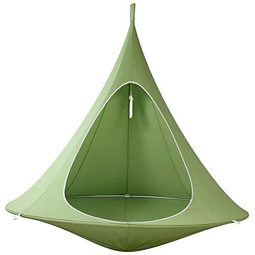 DAGUO Tipi Tree Pod Kinder Baby Schaukel Hängematte Camping Schaukelstuhl Indoor Outdoor Hängesitz Swing Pod,Grün,100 * 110CM