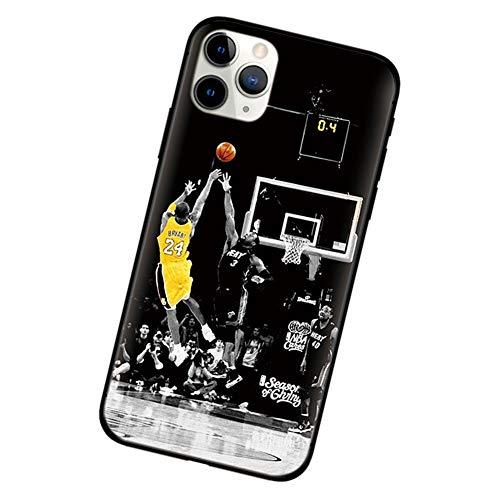 XMYM Custodia Kobe Bryant per iPhone 11/11 PRO / 11 PRO Max, Guscio Morbido Smerigliato o Copertura...
