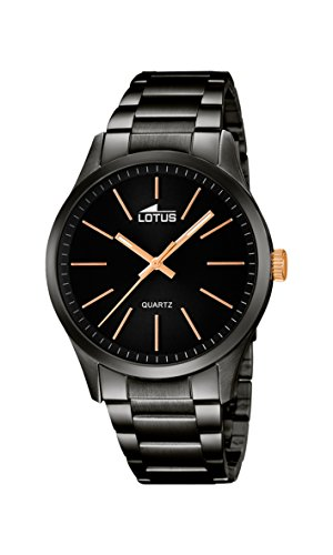 Lotus Herren Analog Quarz Uhr mit Edelstahl Armband 18162/2