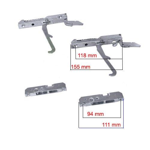 Easyricambi Kit cerniere porta forno SMEG FRANKE 691330361 KCF5392 LOFRA BOMPANI TECNOGAS