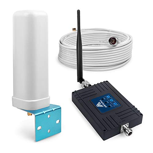 ANYCALL Ripetitore Segnale Cellulare 4G, Amplificatore LTE 800 (Band 20)/EGSM 900 (Band 8)/WCDMA UMTS 2100MHz 70dB Ripetitore Cellulare 2G 3G 4G con antenne per TIM WIND VODAFONE 3