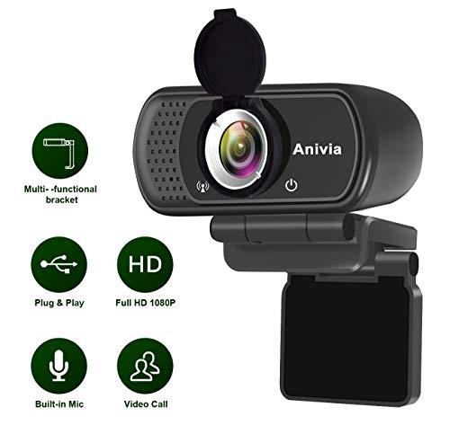 Webcam Full HD 1080p autofoco portátil webcam micrófono incorporado...