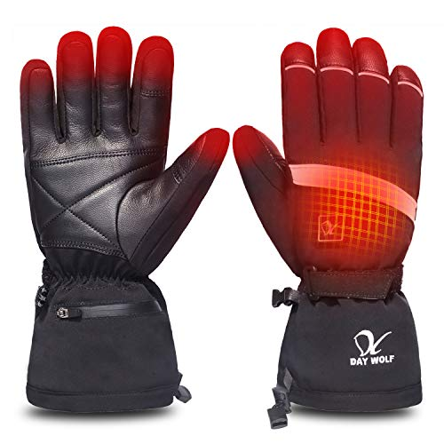 Heated Gloves Electric Hand Warmer 7.4V 2200MAH Rechargeable Men Women Wind & Water Resistant Thermal for Winter Indoor Outdoor Sports Skiing Snowboarding Ice Fishing Camping Hiking Hunting (3XL)