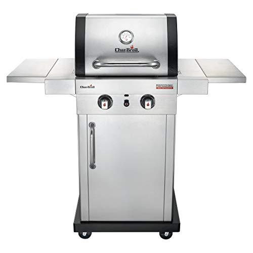 Char-Broil Professional Serie 2200 S - Griglia Barbecue a Gas con 2 Fuochi con Tecnologia TRU-Infrared, Finitura Acciaio Inossidabile