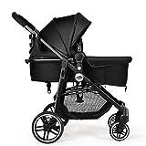 INFANS 2 in 1 Baby Stroller, High Landscape Infant Stroller & Reversible Bassinet Pram, Foldable...