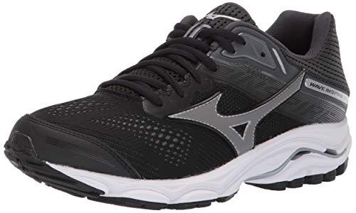 Mizuno Women's Wave Inspire 15 Running Shoe, Black-Dark Shadow, 11 W US