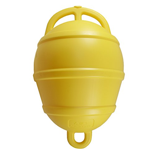 Nuova Rade Boje | Festmacherboje Verankerungsboje | Bojen | 39 cm lang | ø 25 cm | in Weiß, Gelb und Orange (Gelb)