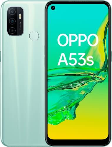 Oppo Smartphone A53S, 6,5' LCD 90HZ, Triple cámara 13 + 2 + 2 MP, Snapdragon 460, Android 10 + Color OS 7.2, 4GB + 128GB, 5000 mAh + Carga 18W, Mint Cream
