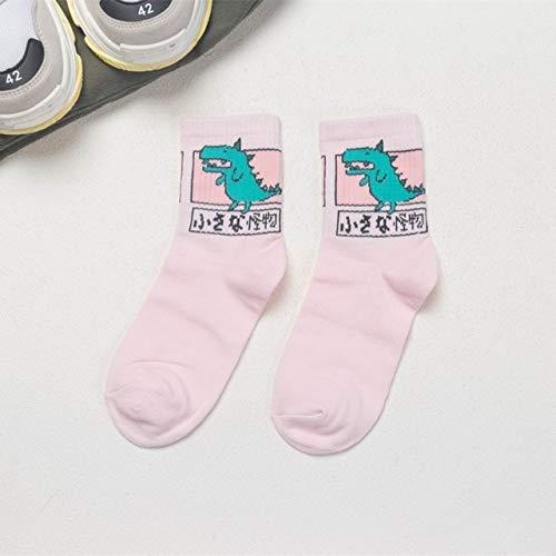 Xiaobing Calzini sportivi comodi delle signore dei calzini casuali del cotone della ragazza del fumetto di kawaii -20-One Size