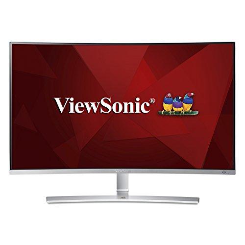 Monitor Tela Curva 32'', Full HD, ViewSonic, VX3216-SCMH-W, Cinza