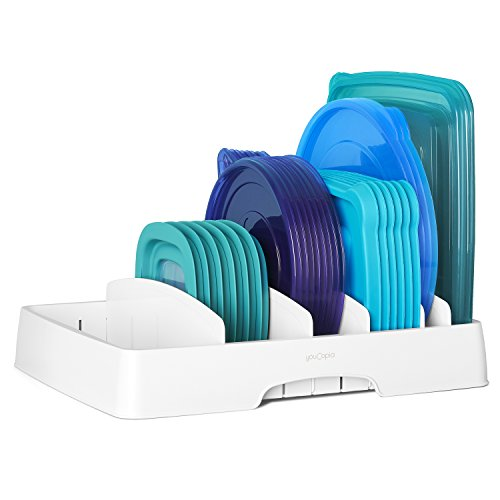 YouCopia 50100 StoraLid Food Container Lid Organizer, Large,...