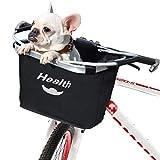 XUNXING Bikes Basket Black for Women Collapsible Dog Basket for Beach Cruisers Bike, Multi-Purpose Bike Front Baskets for Pet Cat, Shopping, Commuter
