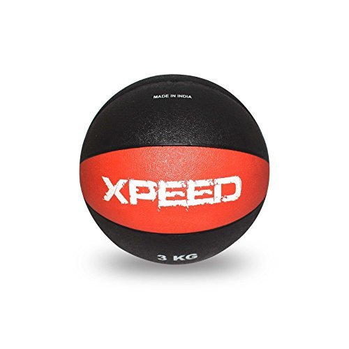 XPEED Rubber Medicine Ball 3kg Home & Gym Fitness Workout High Bounce Rubber Ball