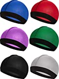 6 Pieces Elastic Band Silky Wave Caps for Men Silk Material for 360 540 and 720 Waves (Color 1)