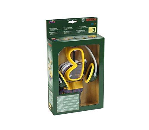 Theo Klein 8535 Set di accessori da 3 pezzi, Guanti da lavoro, occhiali da lavoro e protezione per...