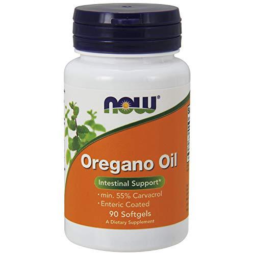 Now Foods   Oregano Oil (Oregano Öl)   90 Weichkapseln   Mindestens 55% Carvacrol   plus Ingweröl und Fenchelöl   hochdosiert   ohne Gentechnik   Glutenfrei   Sojafrei