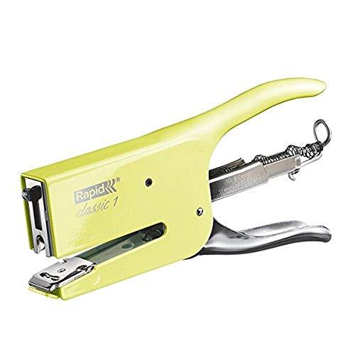 Rapid Retro K1 Cucitrice a Pinza , Compatibile con i Punti Metallici 24/6 e 24/8 mm, Capacit 50 Fogli, Metallo, Mellow Yellow, 5000494