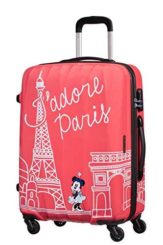 American Tourister Disney Legends Spinner M Valigia per bambini, 65 cm, 62.5 L, Rosa (Take Me Away...