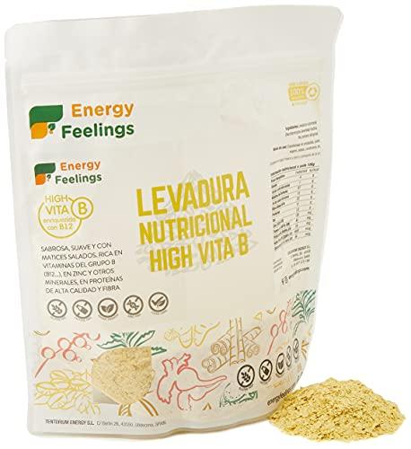 Energy Feelings   Levadura Nutricional en Copos con Vitamina B12   Vegana   Sin Gluten   250g