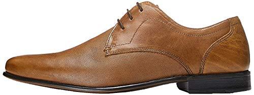 find. Zapato de Cordones con Textura en Piel para Hombre, Marrón (Tan), 42 EU