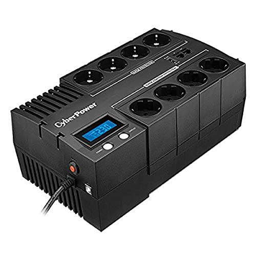 CYBERPOWER BR700ELCD Line-Interactive USV 700VA/390W GreenPower Energy Saving Technologie LCD USB 4+4 Schukoausgang BE700G-GR