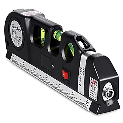 """📏 3-PRONGED APPROACH - combines a fine-tuned tape measure, a triple-positioned leveling bubble and a NEW laser level to provide maximum results.(Note: Laser Ranging Error,that is given as """"+/-2mm at 10m and 25m"""";If the laser is the Vertical Level or ..."""