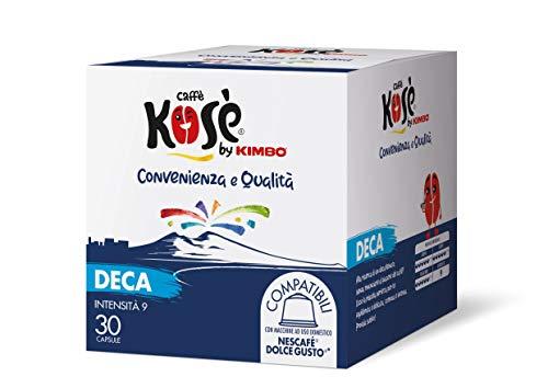 Kosè by Kimbo Capsule Decaffeinato Compatibili Nescafé Dolce Gusto, 2 Astucci da 30 Capsule