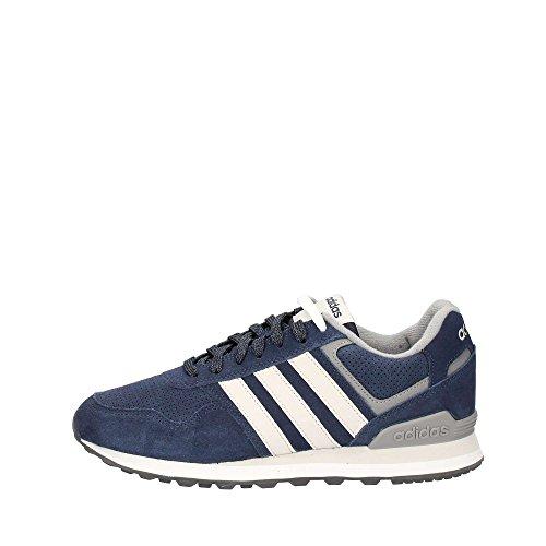 adidas 10K, Zapatillas de Gimnasia Hombre, Azul (Collegiate Navy/Grey One F17/Grey Three F17), 46 EU