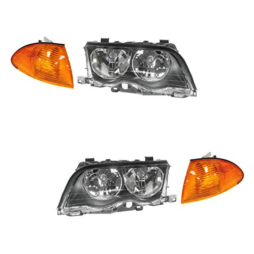 Headlight & Amber Corner Light Lamp Kit Set of 4 for BMW 3 Series