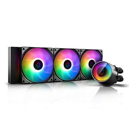 DEEP COOL Castle 360 RGB V2, Raffreddamento a Liquido RGB Indirizzabile per CPU, con Tecnologia...