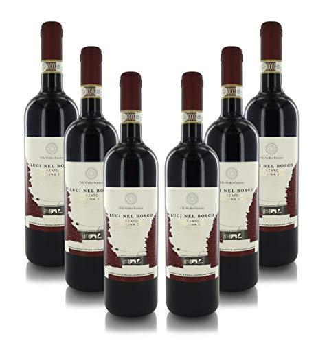 Vino Rosso ''Luci nel Bosco'', Sforzato di Valtellina DOCG, Annata 2017, Cartone con 6 Bottiglie da 75 Cl L'Una