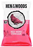 Hen of the Woods Kettle Chips | Red Wine Vinegar ~ 6oz (8 Count) | Healthy Snacks, Potato Chips, Non GMO, Gluten Free, Grain Free