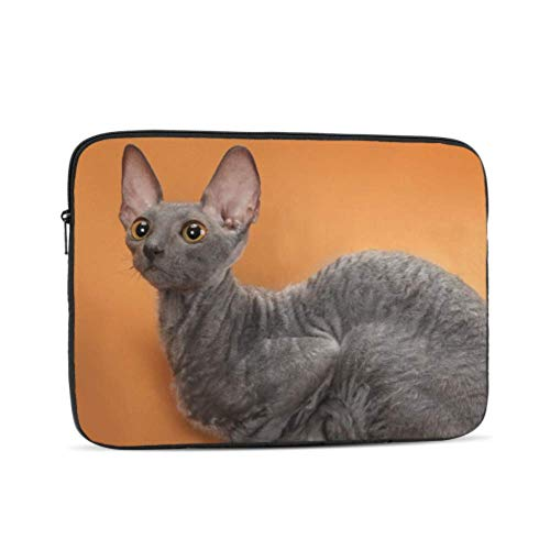 """Cornish Rex Cat Breed Mutant Pattern 17"""" Laptop Sleeve Bag 17.3"""" 17.4"""" Inch Notebook Computer Pc Neoprene Protection Zipper Case Cover"""