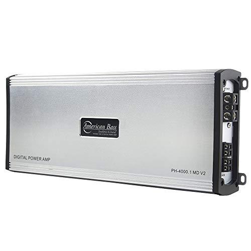 American Bass Phantom Series PH-4000.1-MD-V2 Monoblock Class D Digital Power Car Amplifier with 4000 Watts Max