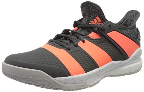 adidas Mens Stabil X Handball Shoe, Grey/Signal Coral/Grey, 43 1/3 EU