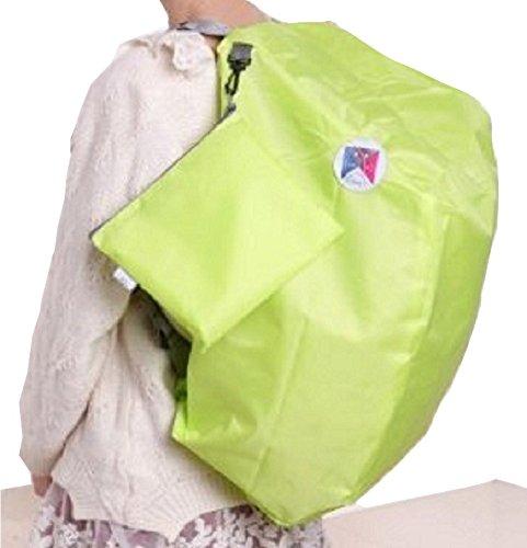 防水 折りたたみ 超軽量 3way 大型 リュックバッグ ピンク ライトピンク ブルー グリーン の 4色 (グリーン)